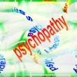 Постер, плакат: Concept of psychopathy background antisocial personality disorder