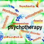 Concept of psychotherapy — Stock Photo