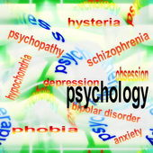 Concept psychology background — Stock Photo