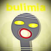 Concept bulimia background — Stock Photo