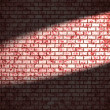 Red brick wall  with spotlight - 图库照片