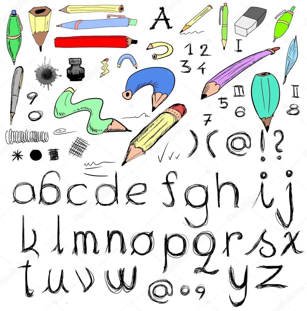 华丽涂鸦字母