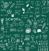 School Doodle texture — Stock Photo