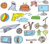 Games doodle set — Stock Photo