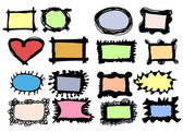 Doodle colorful frames — Stock Photo