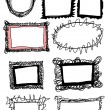 Doodle frames — Stock Photo