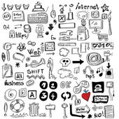 Big set Internet doodles — Stock Photo