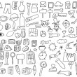 Simplified sketch drawing objects, series doodle — Stock Photo