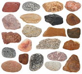 Big Collection Rocks isolated on white background — Stock Photo