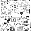 Set hand drawn, doodle, numbers, shapes, circle, square, line — Stock Photo #22395901