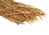 Pile straw isolated on white background, (with clipping path) — Stock Photo