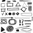Doodle, Set hand drawn shapes, circle, square, triangle — Stock Photo #22644299