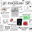 Постер, плакат: Concept clinical psychology color doodle icons and symbols