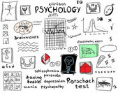 Concept clinical psychology, color doodle icons and symbols — Stock Photo