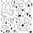 Hand drawn bubble speech, signs and symbols — Stock Photo