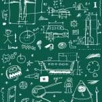School Doodle texture — Stock Photo