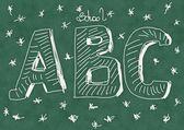 School Doodle alphabet background and texture — Stock Photo