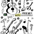 Doodle musical instruments — Stock Photo #23511799