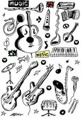 Doodle musical instruments — Stock Photo