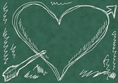 School Doodle love background and texture — Stock Photo
