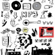 Royalty-Free Stock Photo: Doodle music heavy metal, rock