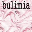 Concept bulimia — Stock Photo
