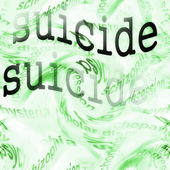 Concept suicide background — Stock Photo