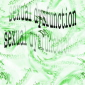 Concept sexual dysfunction background — Stock Photo