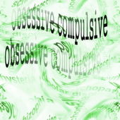 Concept obsessive compulsive disorder background — Stock Photo
