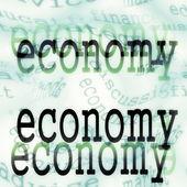 Economy background concept — Stock Photo