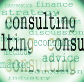 Concept consulting word background — Stock Photo
