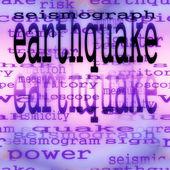 Fundo de terremoto de conceito, textura — Foto Stock