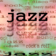 Concept music jazz background, texture — Stock Photo #24404685