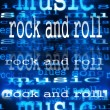 Concept Rock and roll word backgrounds and texture — Foto de stock #24447257