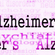 Alzheimer's disease symbol, Concept Dementia background — Stock Photo