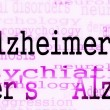 Alzheimer's disease symbol, Concept Dementia background - Stock Photo