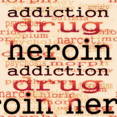 Concept heroin background — Stock Photo