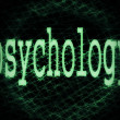 Concept of psychology background — Stock Photo