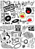Doodle music — Stock Photo