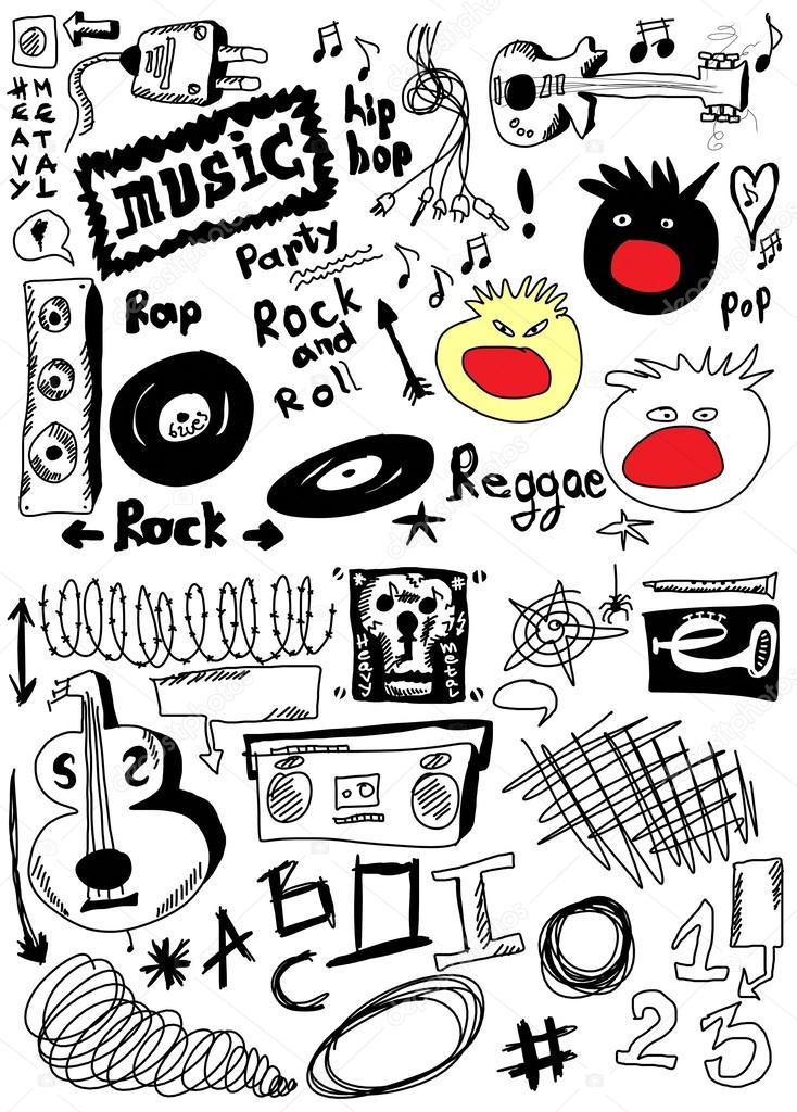 涂鸦音乐 — 图库照片08dusan964#25530285