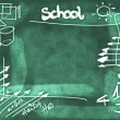 Stock Photo: School Doodle background and texture