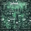School seamless doodle texture — Stock Photo