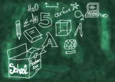 Doodle School blackboard — Fotografia Stock