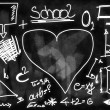 School Doodle blackboard background and texture — Stock Photo #26317351