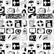 Hand drawn business objects background and texture — Stock Photo #26634829
