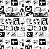 Hand drawn business objects background and texture — Stock Photo