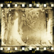 Old grunge film strip frame background — Stok fotoğraf