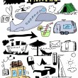 Travel doodles collection — Stock Photo