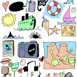 Stock Photo: Summer doodles collection