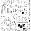 Stock Photo: Doodle charts